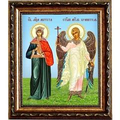 Августа (Василисса) Римская с Ангелом Хранителем. Икона на холсте.