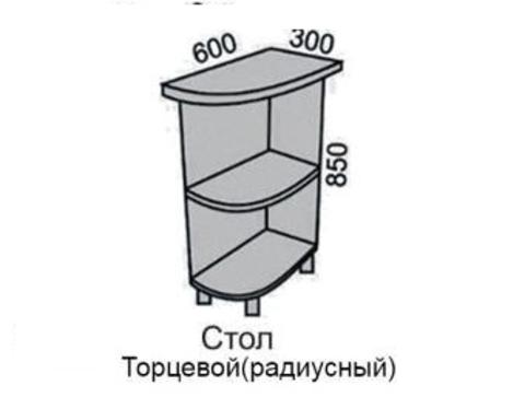 Стол МАДЕНА торцевой радиусный НШТР-30 (с)