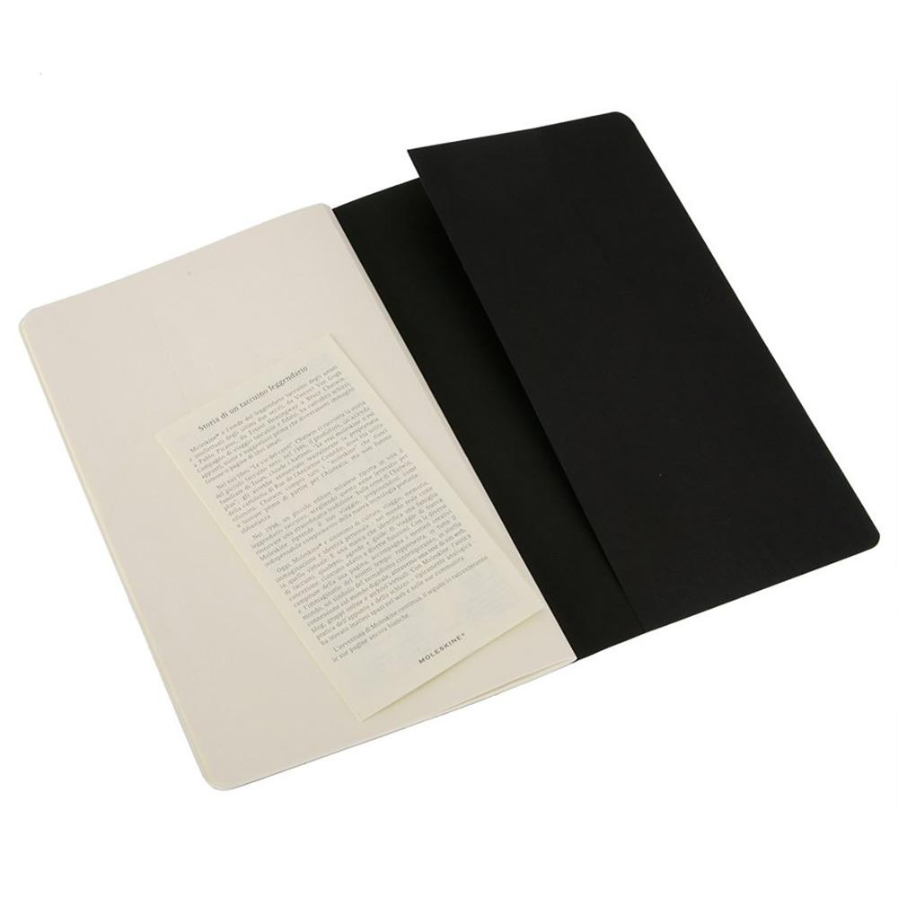 Набор 3 блокнота Moleskine Cahier Journal XL, цвет черный, без разлиновки