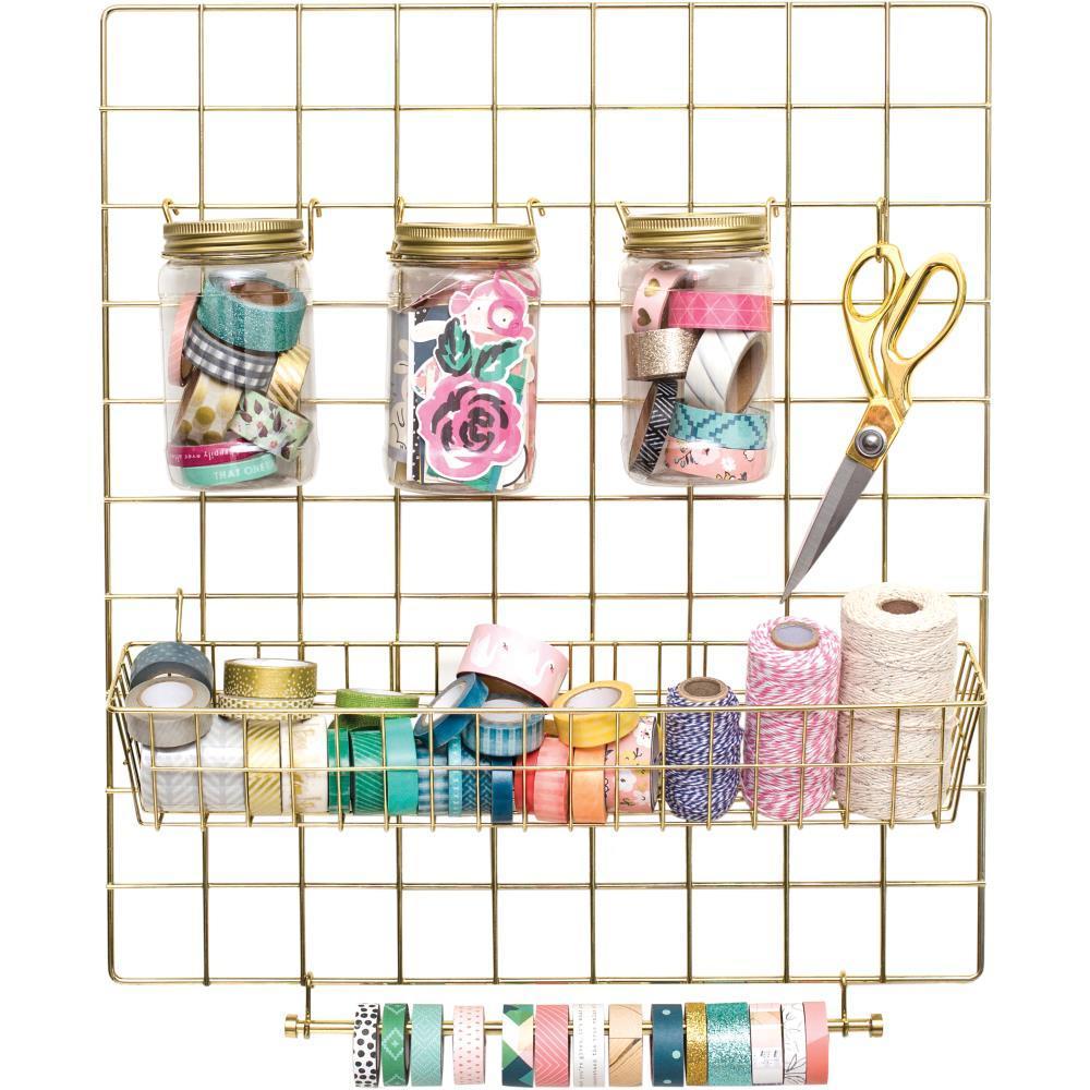 Панель-органайзер в комплекте с оборудованием для хранения -Crate Paper Washi Storage Kit-Crate Paper -Gold