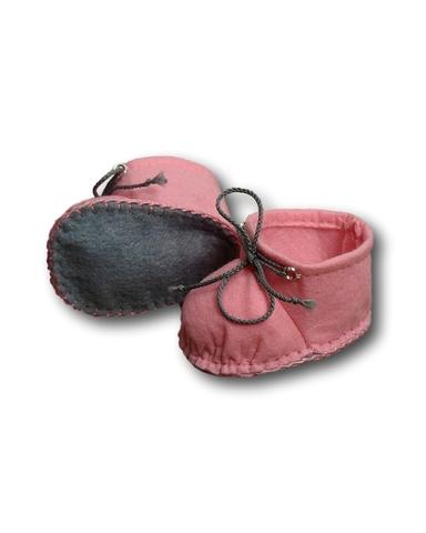 Ботиночки из фетра - Розовый. Одежда для кукол, пупсов и мягких игрушек.