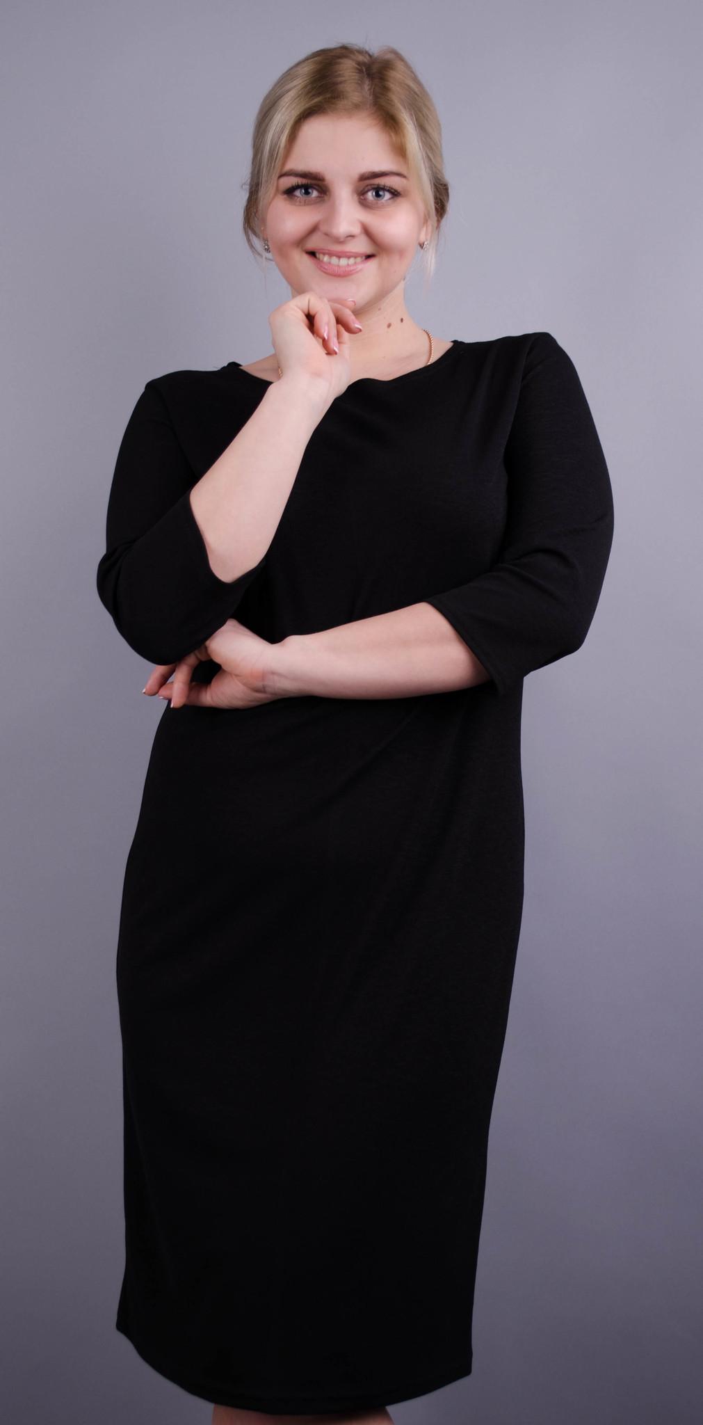 Аріна. Базове плаття великих розмірів. Чорний. dc7bda6441fb5