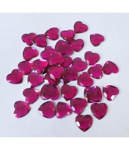 145 Стразы сердечки розовые 40 шт