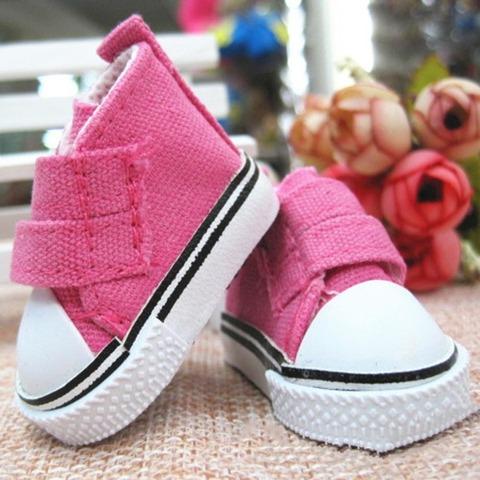 Взуття для ляльки Let's make Кеди на липучці малинові