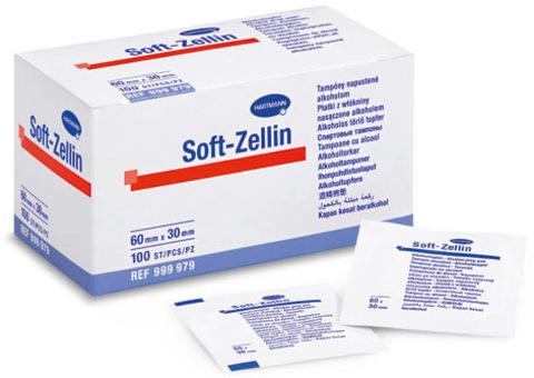 Спиртовые тампоны SOFT - zellin 100 шт