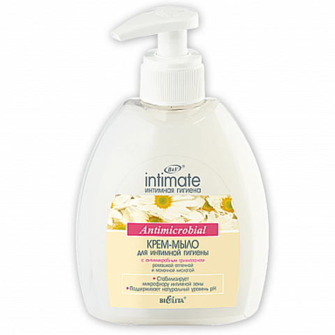 Белита Intimate Крем-мыло для интимной гигиены Antimicrobial 300мл