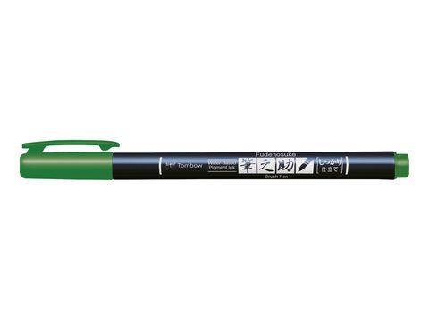 Ручка Tombow Fudenosuke Color (жесткий наконечник, зеленые чернила)