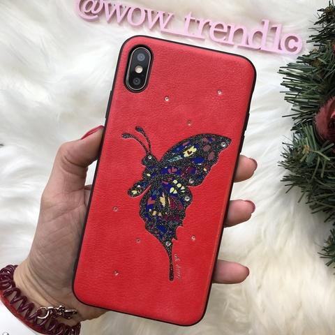 Чехол iPhone XR WK Fancy Dimond Case /red/