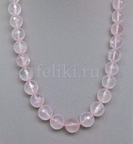 бусы из розового кварца (н-1013)