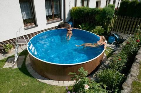 Установка каркасных, сборных бассейнов