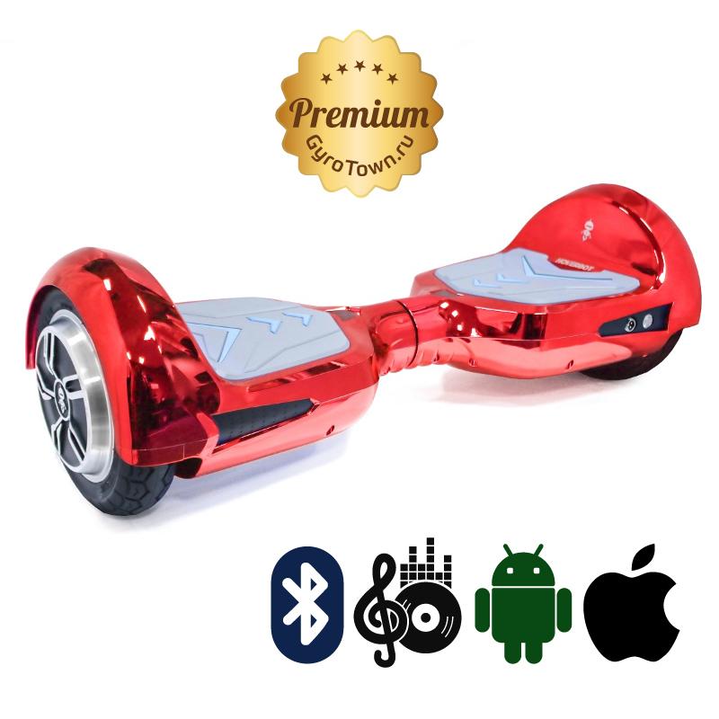 Hoverbot B4 Premium красный (приложение + Bluetooth-музыка + сумка) - 8 дюймов  ТРАНСФОРМЕР, артикул: 685678