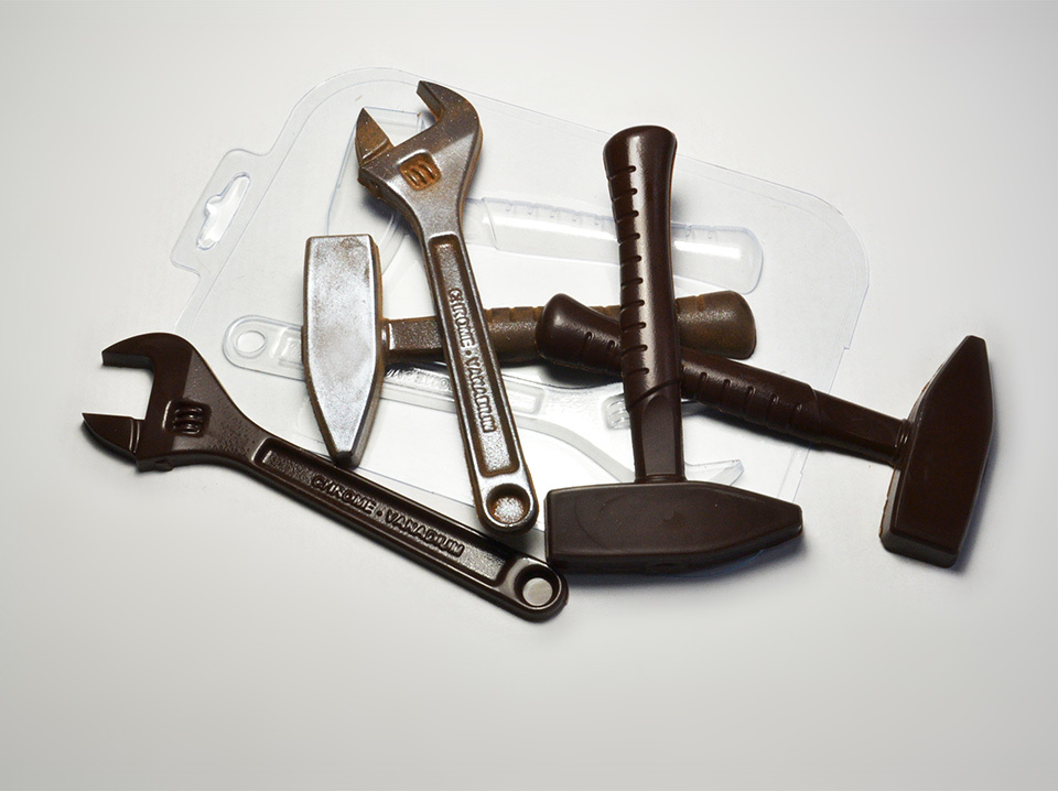Форма для шоколада Ключ и молоток