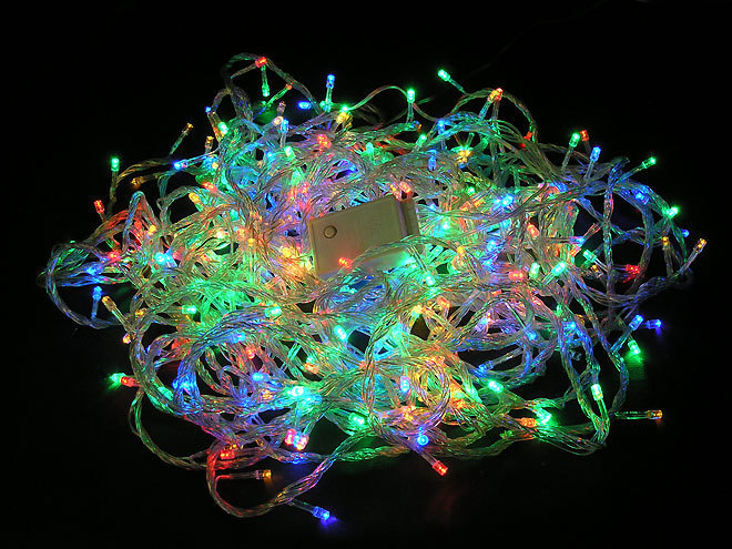 """Товары для дома Новогодняя елочная гирлянда 100 Led """"Светодиодный дождь"""" (5 метров, белая) Гирлянда_морозоустойчивая.jpg"""