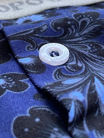 Мужские трусы ВЕЛИКОРОСС семейные «Ярко-синий орнамент»