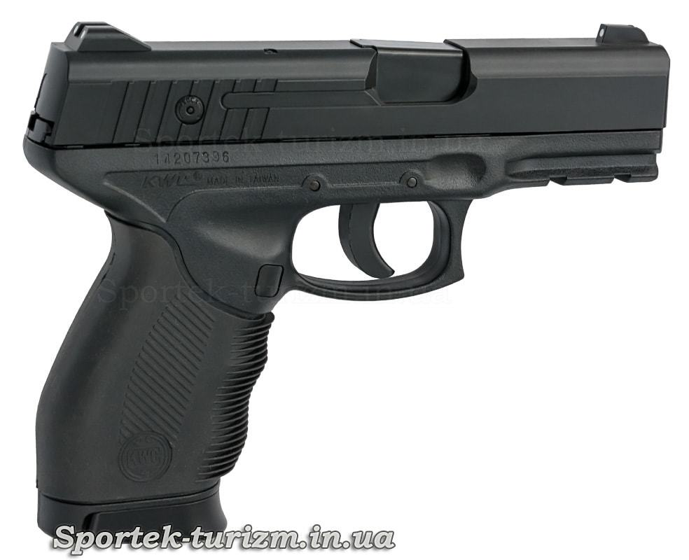 Вид справа на пистолет пневматический SAS PT 24/7 калибра 4,5 мм,