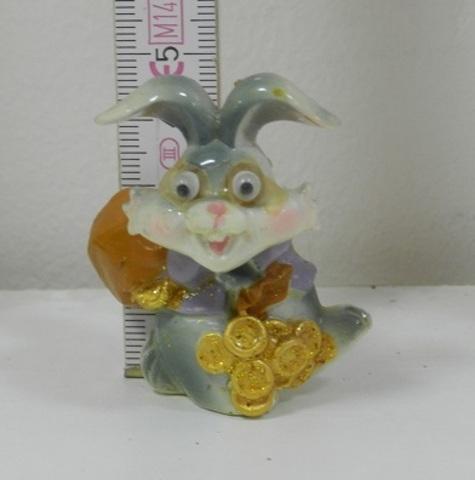 Магнит полистоун Счастливый кролик 290529