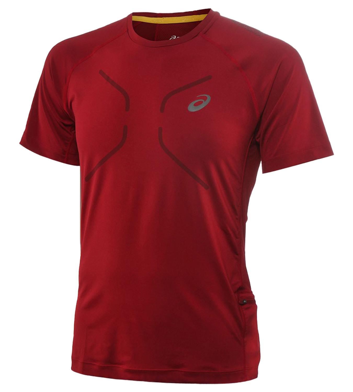 Мужская спортивная футболка Asics FujiTrail Ultra Top (124797 6010) красная