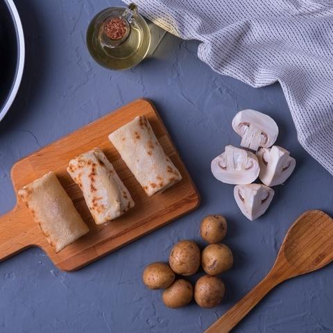 Фотография Блины с картофелем и грибами 500 г купить в магазине Афлора