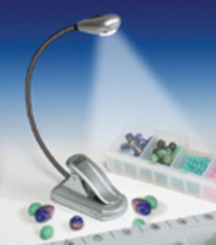 Мини лампа с одним светодиодом, серебристая 'Gold Crest', США