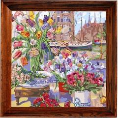 Цветочная лавка- картина по номерам