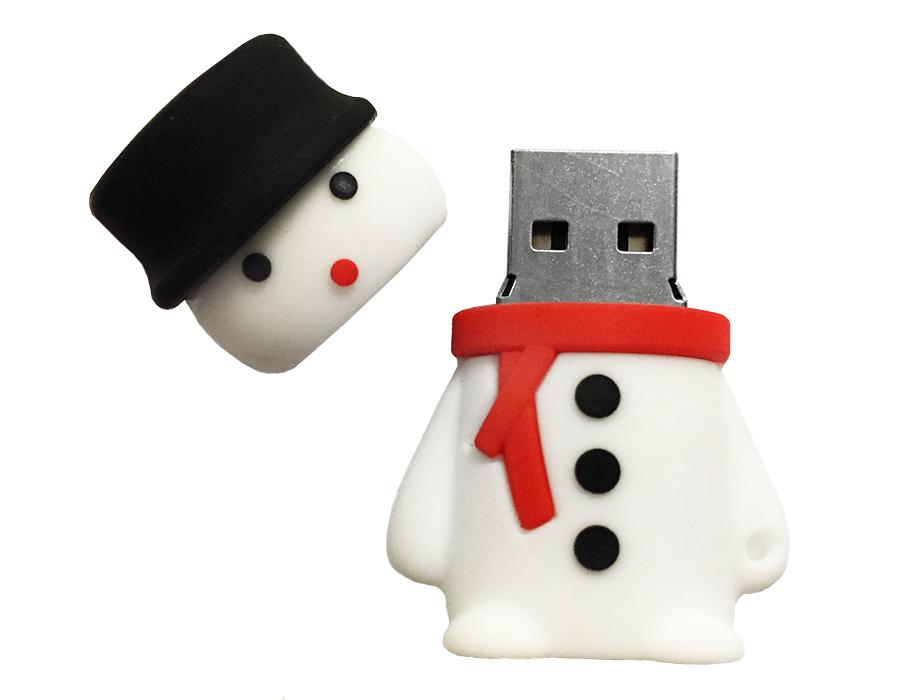 usb-флешка снеговик с шарфом