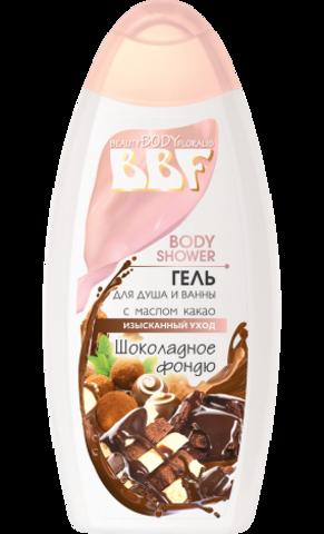 Floralis BBF Гель для душа и ванны с маслом какао Шоколадное фондю 350г