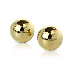 Тяжелые вагинальные шарики металлические Fetish Fantasy Gold Ben-Wa Balls (2 см.; Вес 57 гр.)