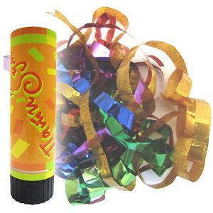 Пневмохлопушка пружинная фольгированное конфетти 16см