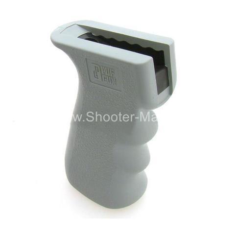 Пистолетная рукоятка Pufgun M-2 АК/Сайга/Вепрь прорезиненная, серый