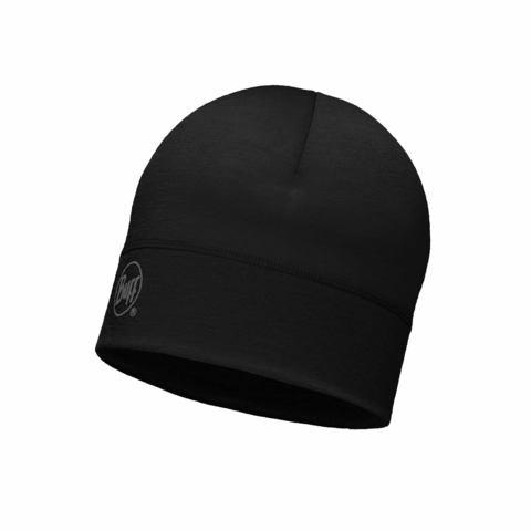 Спортивная шерстяная шапка Buff Solid Black