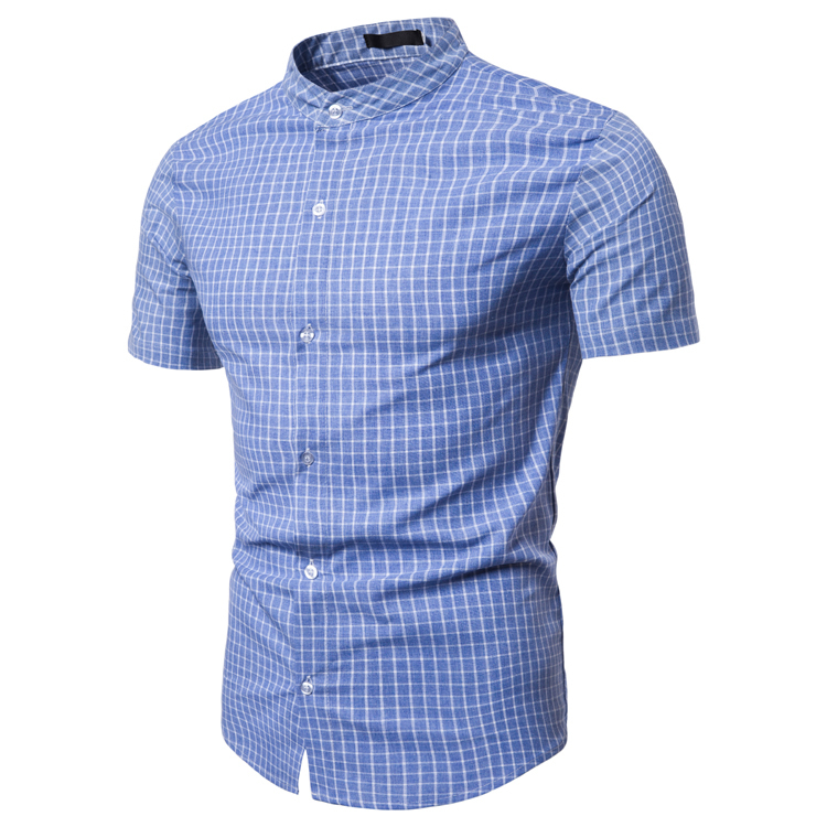 мужские рубашки Мужская рубашка с коротким рукавом Slim Fit O1CN01e4ZJE01lbqgJ0sDfR___21634838.jpg