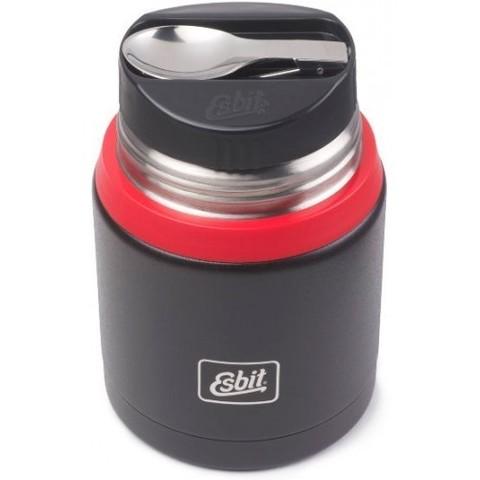 Термос для еды Esbit FJSP, с ложкой , черно-красный, 0.75 л