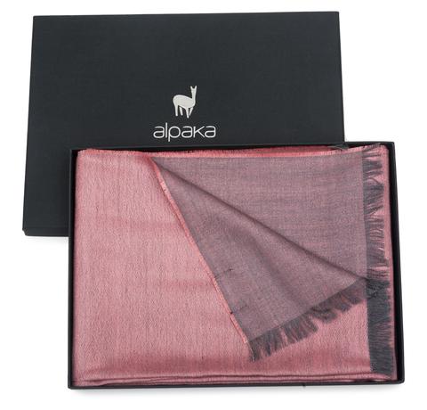 Плед-шарф шерстяной 30x200 Alpaka розовый