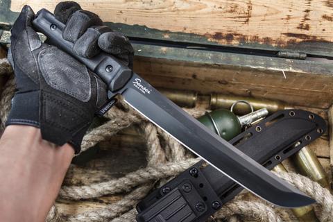 Туристический нож Sensei AUS-8 Black Titanium