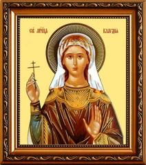 Клавдия Амисийская (Понтийская) мученица. Икона на холсте.