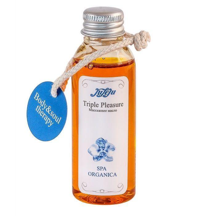 Массажные масла и свечи: Массажное масло Triple Pleasure Spa Organica - 50 гр.