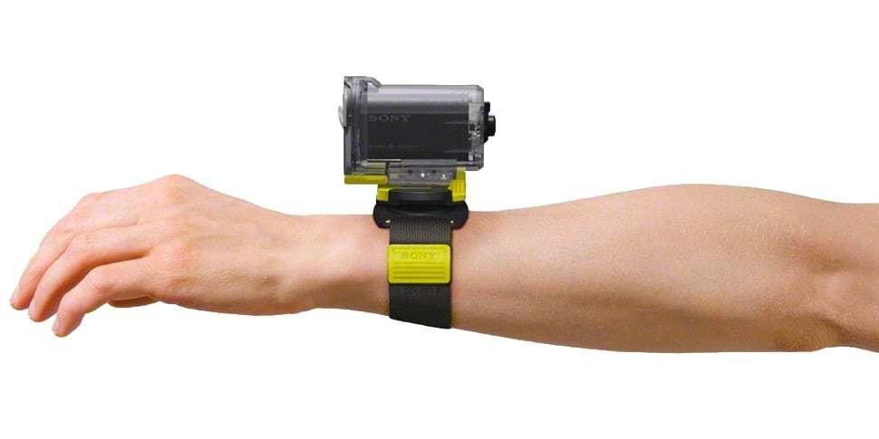 Регулируемый ремешок Sony AKA-WM1 на руке