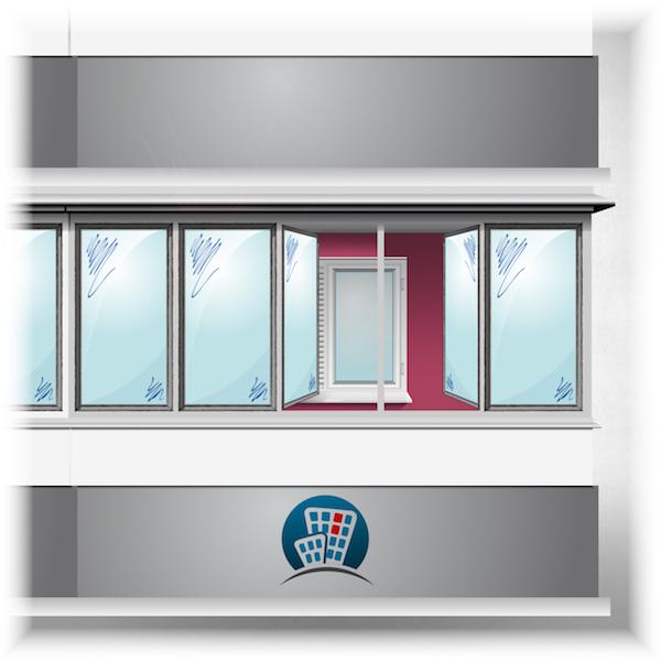 Остекление балконов в доме серии 11 57