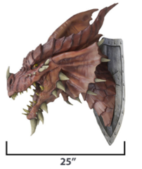 Dungeons & Dragons Red Dragon Trophy Plaque Prop Replica