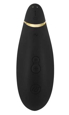 Стимулятор клитора Womanizer Premium черный/золотой