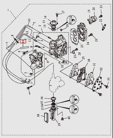Шланг L240 для лодочного мотора T9.8 Sea-PRO (2-10)