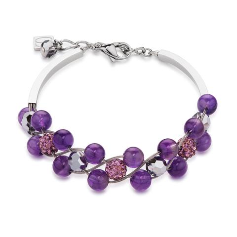 Браслет Coeur de Lion 4895/30-0800 цвет фиолетовый