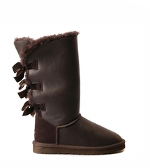UGG Bailey Bow Tall Metallic Chocolate