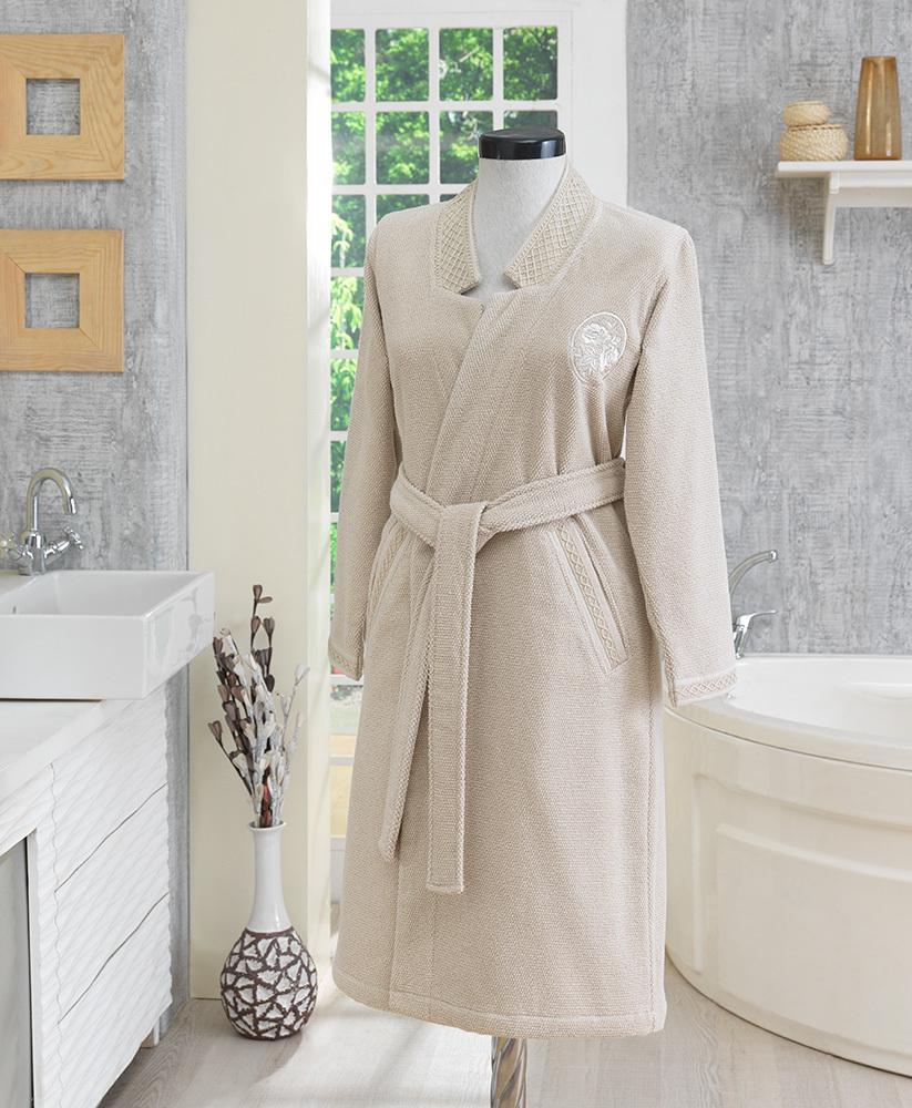 Махровые халаты ELIZA KIMONO махровый женский халат Soft Cotton (Турция) ЭЛИЗА_КИМОНО_БЕЖ.jpg