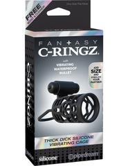 Эрекционное кольцо с вибрацией C-Ringz Thick Dick Silicone Vibrating Cage