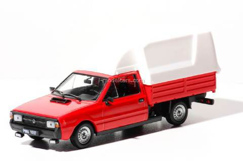 FSO Polonez Truck red-white 1:43 DeAgostini Kultowe Auta PRL-u #70