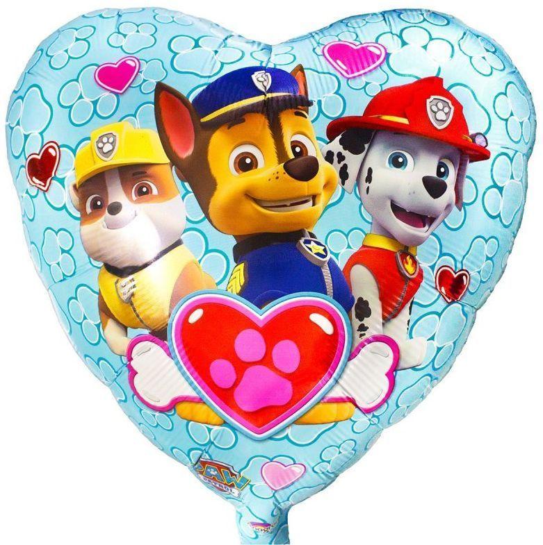 Щенячий патруль Фольгированный шар сердце Щенячий Патруль 1021029878.jpg
