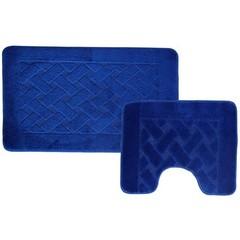 Набор ковриков для ванной BANYOLIN 55х90 см ворс, синий