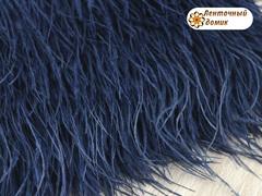 Перья на тесьме сапфировые 8-10 см (отрез 18 см)