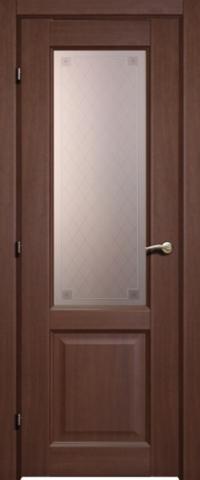 Дверь Краснодеревщик ДО 6324 с/о Пико, цвет танганика, остекленная